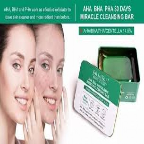 DR.DAVEY AHA BHA PHA 30 DAYS Miracle cleansing soap bar tea tree soap Acne Exfoliating Moisturizing and Brightening