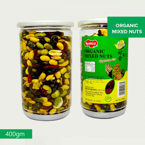 Nuttos Organic Mixed Nuts- 400gm- Malaysia