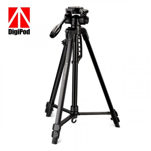 DIGIPOD TR452 Aluminum Camera Tripod (4.4 Feet)- Suitable To Mobile, Mirrorless Camera, DSLR