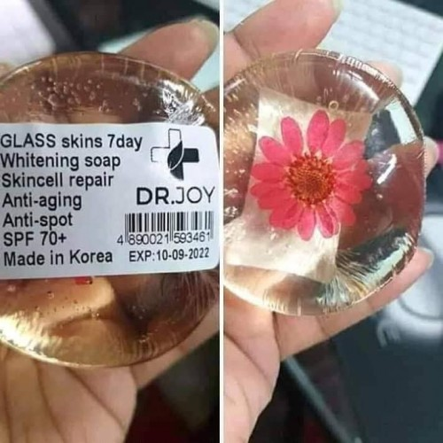 Glass skin soap