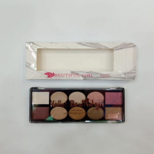 Boub Beautiful Girl 10 In 1 Shimmer Eye Shadow Kit