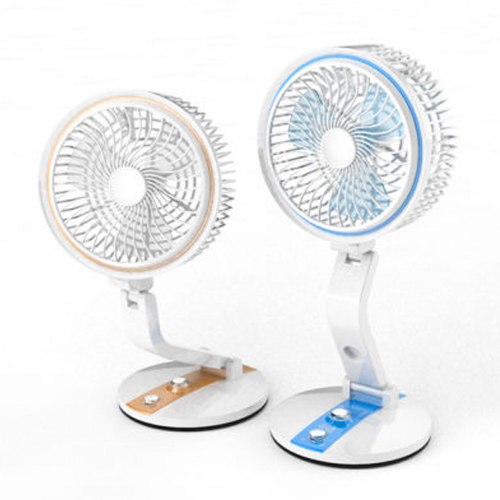 LR- 2018 New USB Rechargeable Fan With LED Light