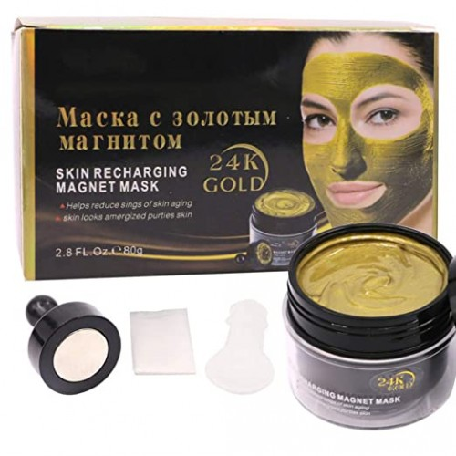 Taykoo 24k Gold Magnet Mask Mud Moisturizing Control Oil Remove Blackheads Face Cleaning Product