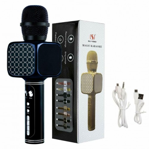 YS-69 wireless Bluetooth karaoke microphone USB KTV mobile player MIC speaker recording