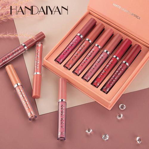 HANDAIYAN 6 Pieces Matte Lip Gloss Set Liquid Lipstick