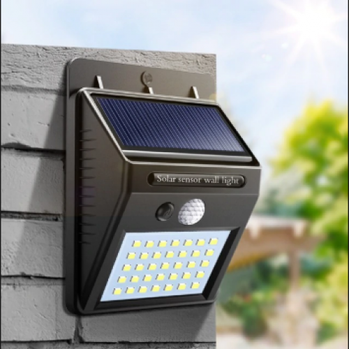 Solar Sensor Wall Light 4 SMD LED