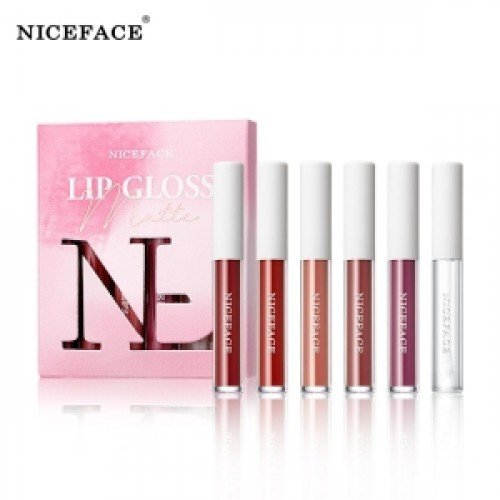 Niceface 6 Pcs Set Matte Lip Gloss