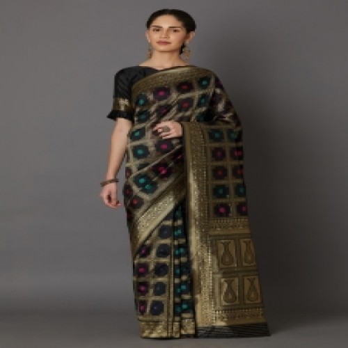 Latest Designed Luxury Exclusive Printed Silk Saree With Blouse Piece For Women-72