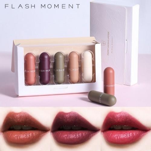 FLASH MOMENT Pocket Capsule 5 in 1 Mini Lipstick Kit
