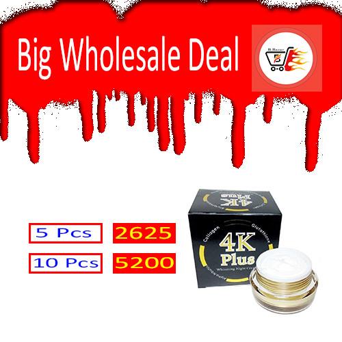 4k Plus Whitening Night Cream 10 Pes