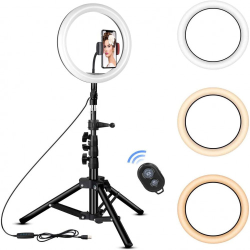 18-inch LED Ring Light & Temperature Control Full Set with Stand and Carry Bag