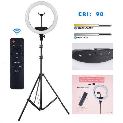 Studio 16 inch Ring Light Dimmable LED Lamp for Makeup Youtube Video with remote control