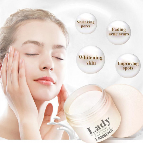 LANBENA Lady Whitening Day Cream Anti Ag Whitening Moisturizer Removal Finelines Essence 35G