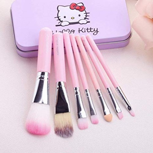 Hello Kitty 7 Pcs Mini Makeup Brushes Set