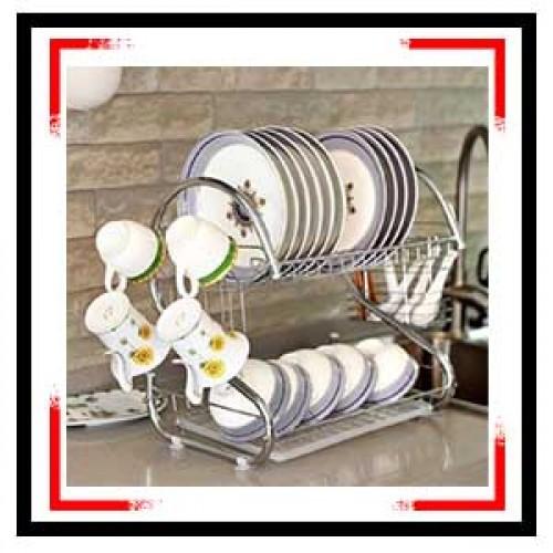 2-Layer Dish Drainer Drying