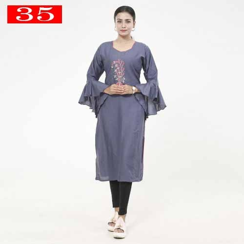 One Piece Readymade Linen Kurti For Woman 35