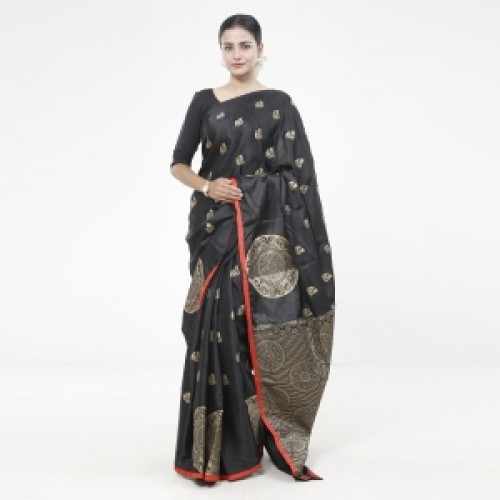 Latest Designed Luxury Exclusive Printed Silk Saree With Blouse Piece For Women-26