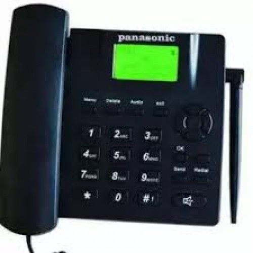 Dual SIM Supported Land Phone Panasonic GSM  - Black