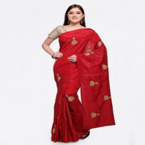 Latest Designed Luxury Exclusive Printed Silk Saree With Blouse Piece For Women-46