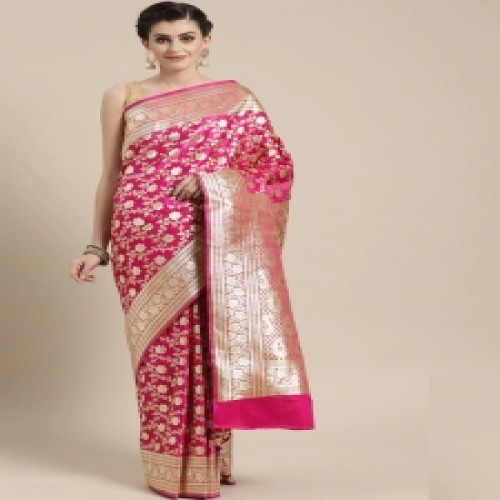 Latest Designed Luxury Exclusive Printed Silk Saree With Blouse Piece For Women-67