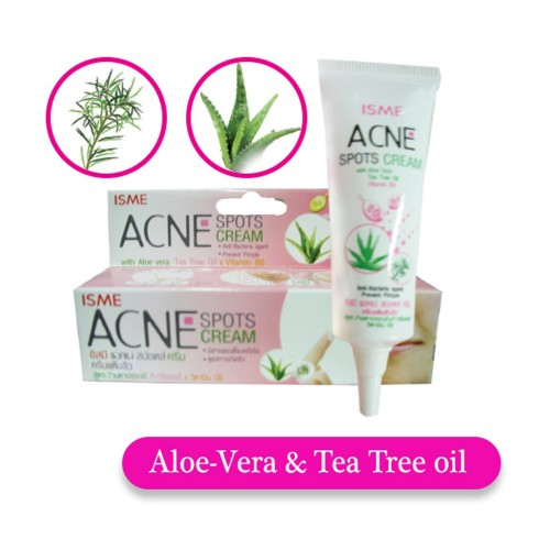 ISME ACNE SPOTS CREAM WITH ALOE-VERA, TREE, OIL, VITAMIN B6 (10g.)