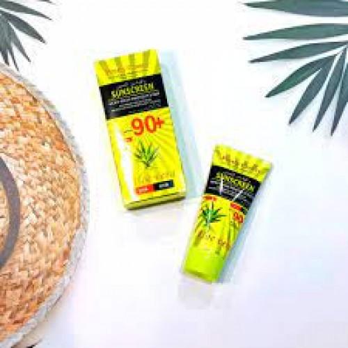 PRETTY COWRY Aloe Vera High Protection Face Sunscreen Cream Sunblock 90+/PA+++ 50ml