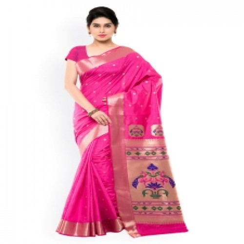 Latest Designed Luxury Exclusive Printed Silk Saree With Blouse Piece For Women-68