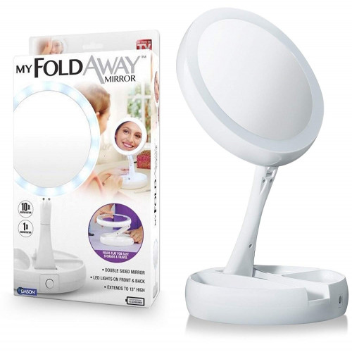 My Foldaway Mirror Led Makeup Double Sided Travel Mirror 10X Zoom