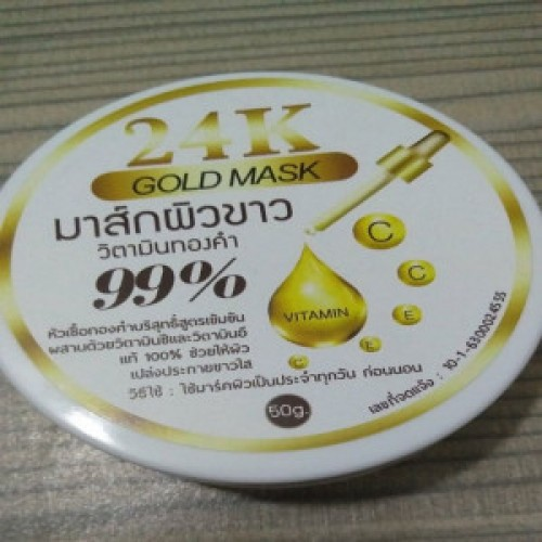24k Gold 99 Percent Mask