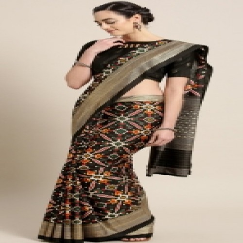 Latest Designed Luxury Exclusive Printed Silk Saree With Blouse Piece For Women-83