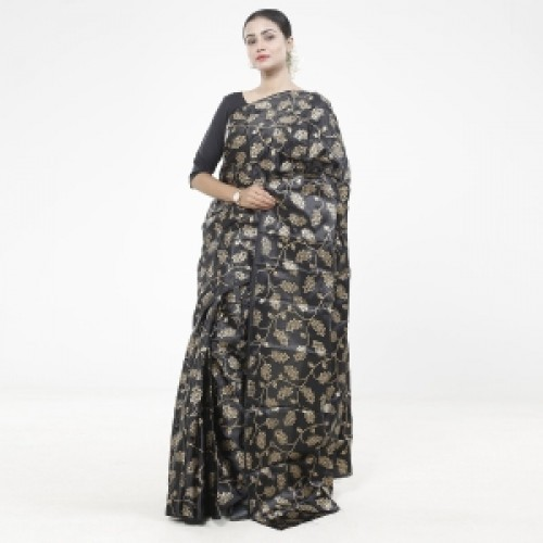 Latest Designed Luxury Exclusive Printed Silk Saree With Blouse Piece For Women-14