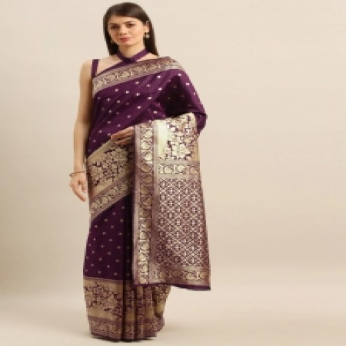 Latest Designed Luxury Exclusive Printed Silk Saree With Blouse Piece For Women-81
