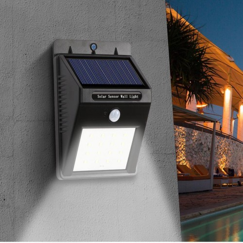 Solar Sensor Wall Light 4 SMD LED