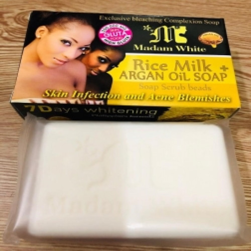 Madam White Rice Milk Argan Oil Soap