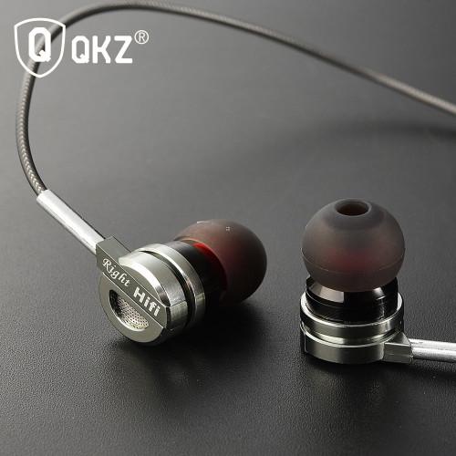 QKZ DM9 Zinc Alloy HiFi Metal In Ear Earphones - Black