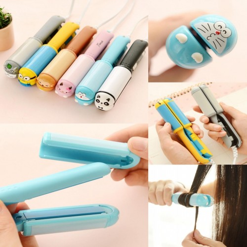 2 in 1 Mini Travel hair straightener and Curler