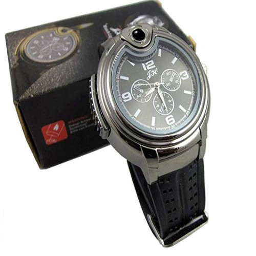 Combination Butane Lighter with Analog Watch