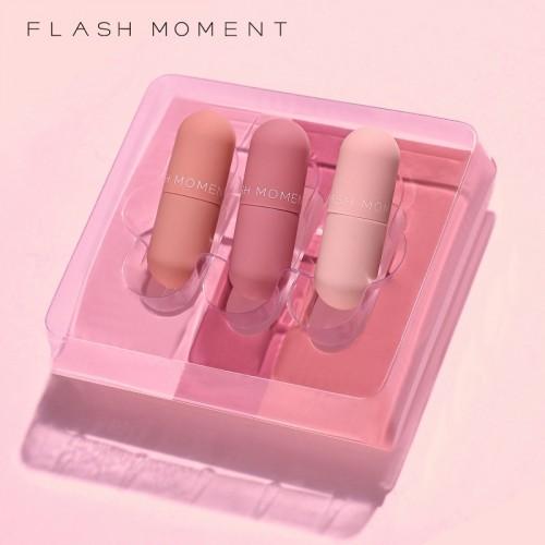 Flash Moment 3 Colors Matte Lipstick Set Waterproof Long Lasting pocket lipstick gift set