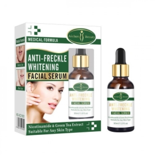 Anti-freckle Whitening Serum Green Tea Extract Moisturizing Vitamin E Remove Scars Face Serum