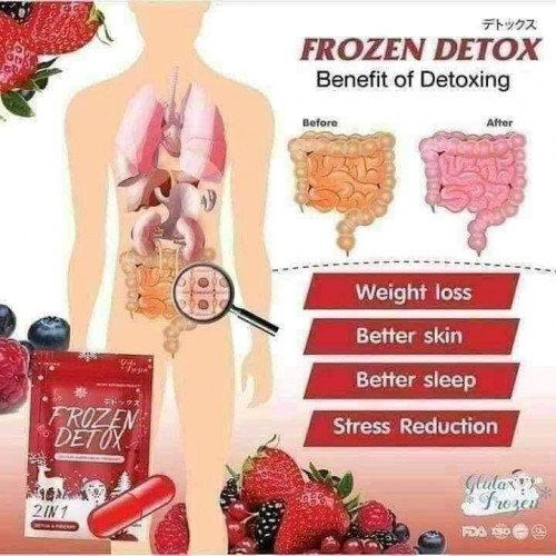 Frozen Detox 2 In 1 Slimming Capsule(RED) Made in Thailand