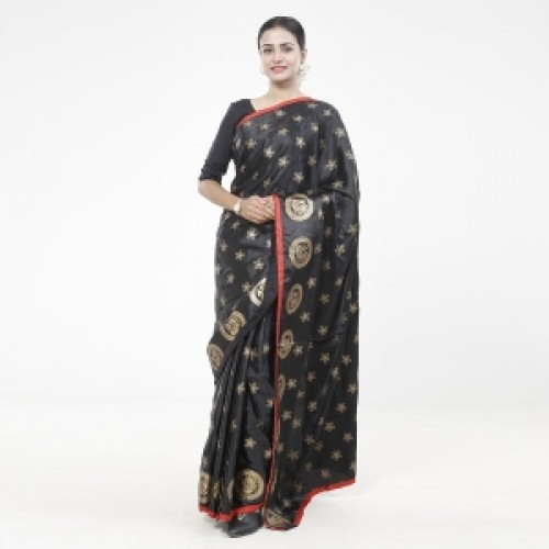 Latest Designed Luxury Exclusive Printed Silk Saree With Blouse Piece For Women-38