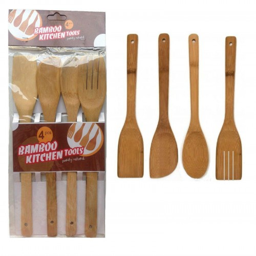 4pcs Bamboo kitchen tools