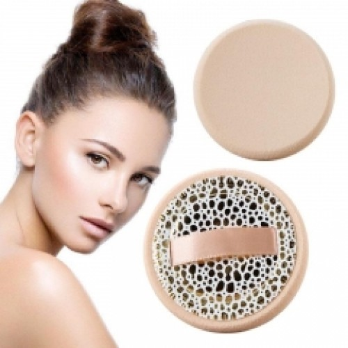 2Pcs Ribbon Powder Cosmetic Puff