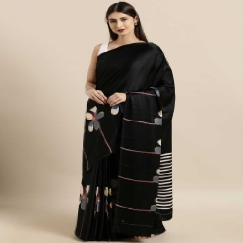 Latest Designed Luxury Exclusive Printed Silk Saree With Blouse Piece For Women-31